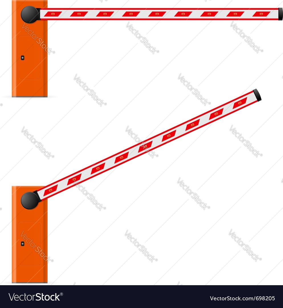 Construction barricade vector image