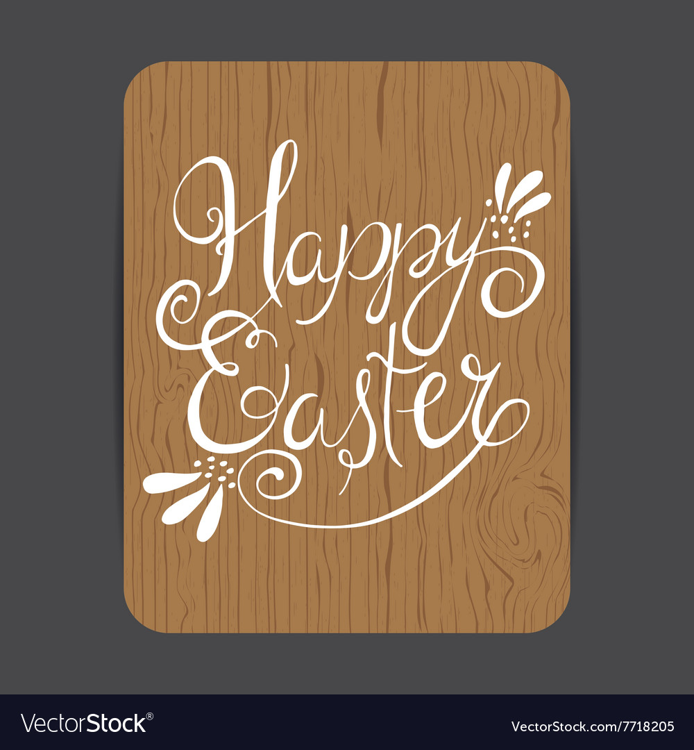 Easter wooden card