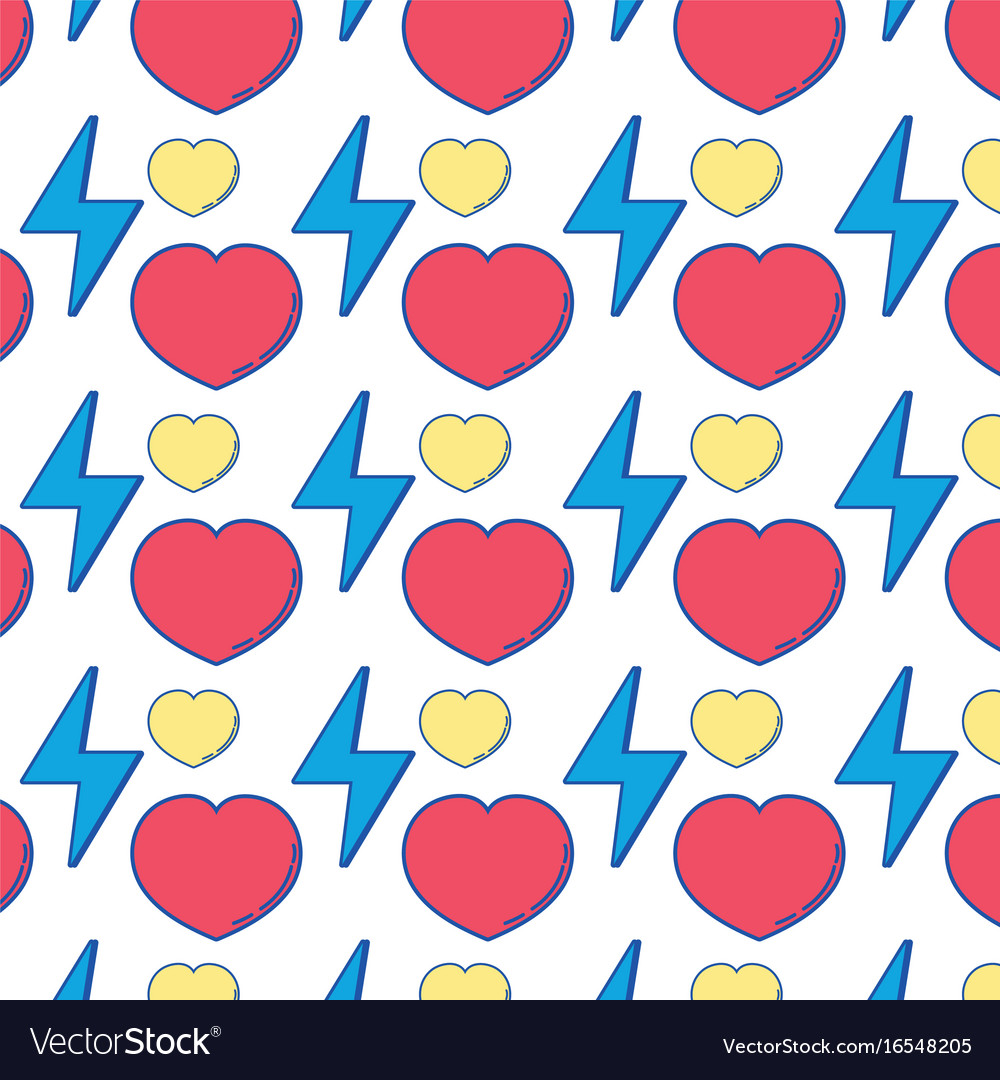 Heart love and energy hazard symbol background