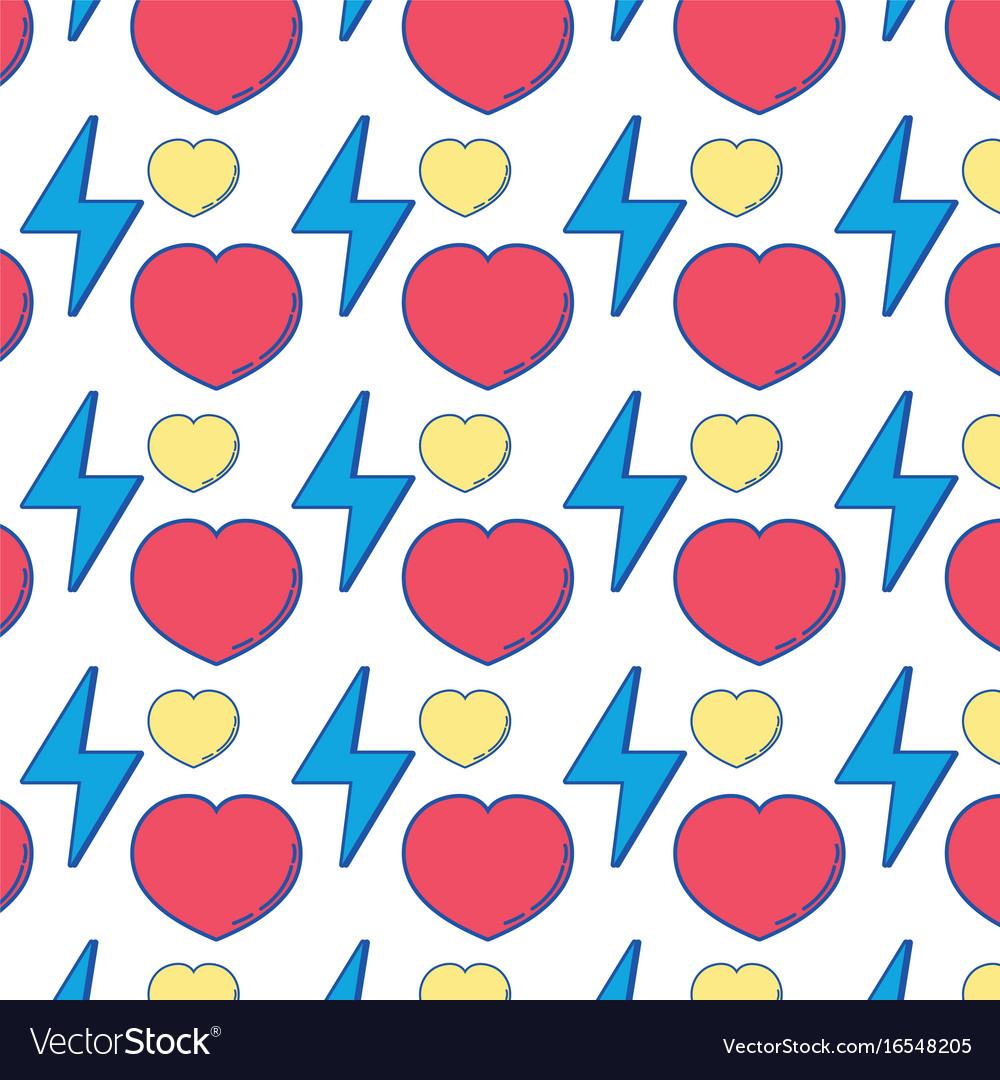 Heart love and energy hazard symbol background vector image