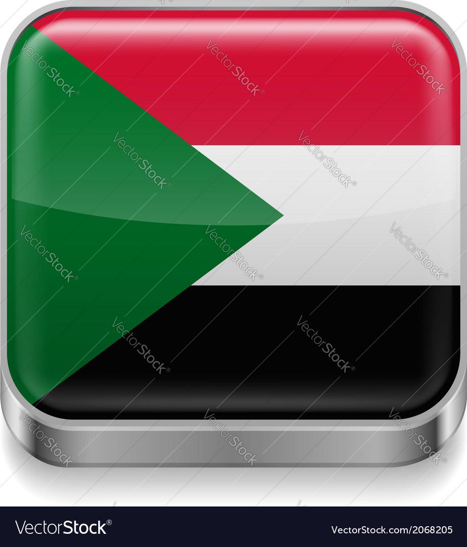 Metal icon of Sudan