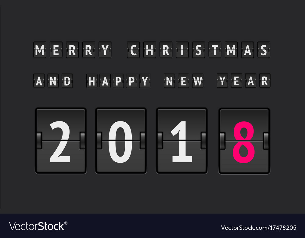 New Year Countdown Banner Royalty Free Vector Image