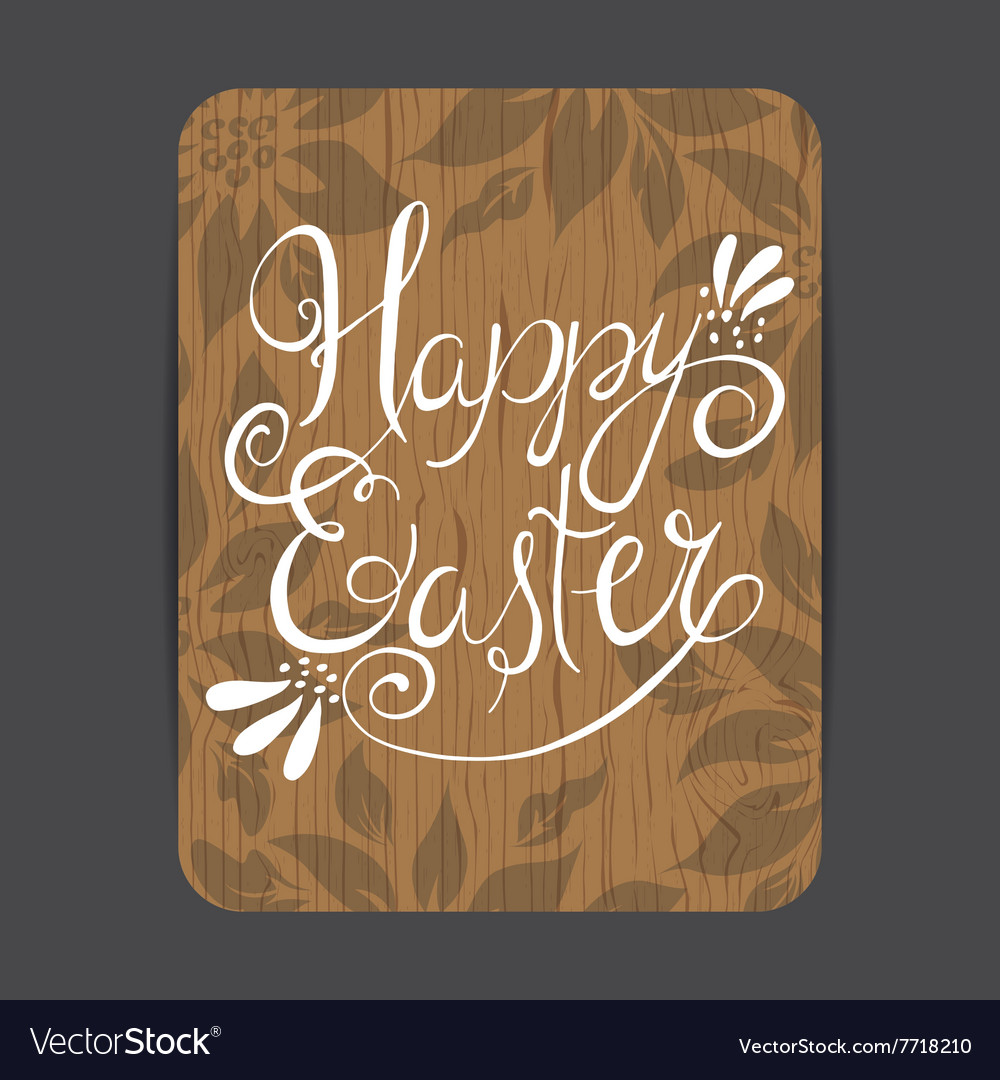 Easter wooden greeting card