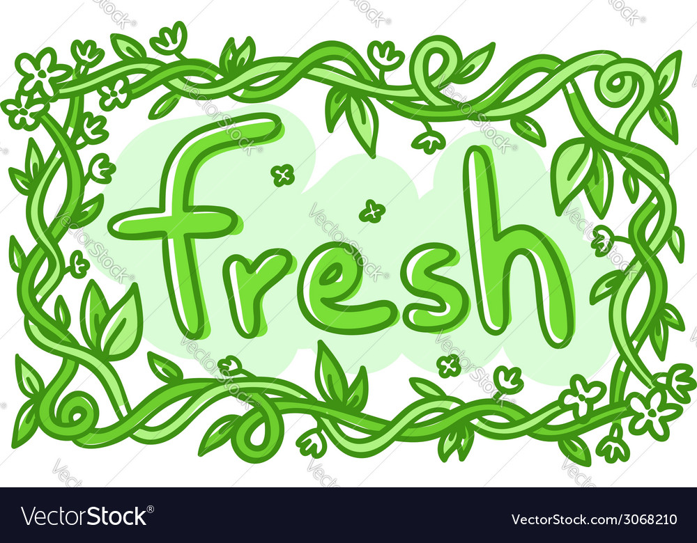 Fresh doodle decorative label
