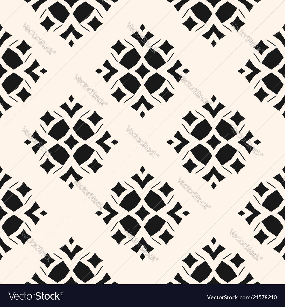 Geometric ornamental seamless black pattern