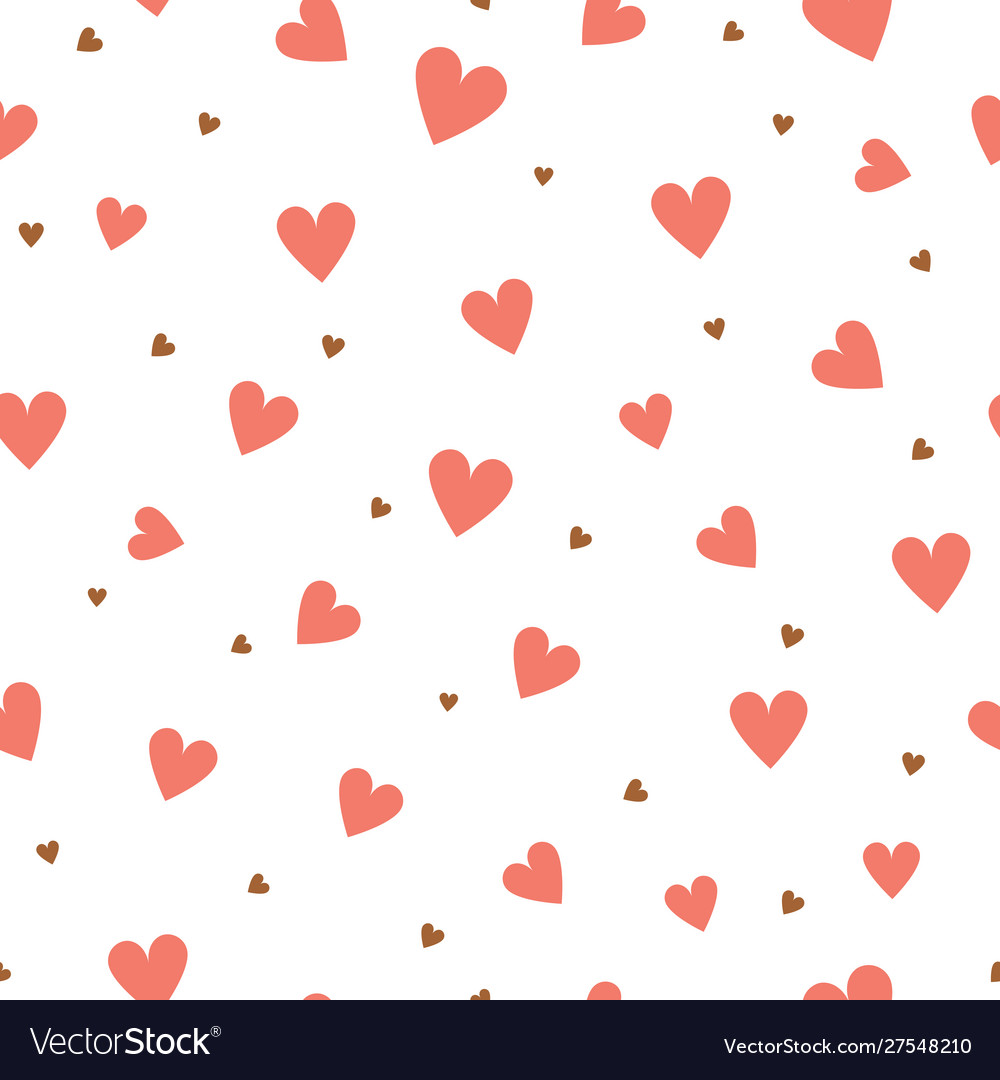 Heart seamless pattern valentines day and wedding