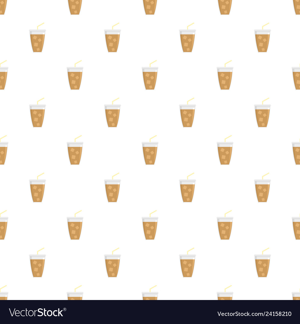 Ice cappuccino pattern seamless