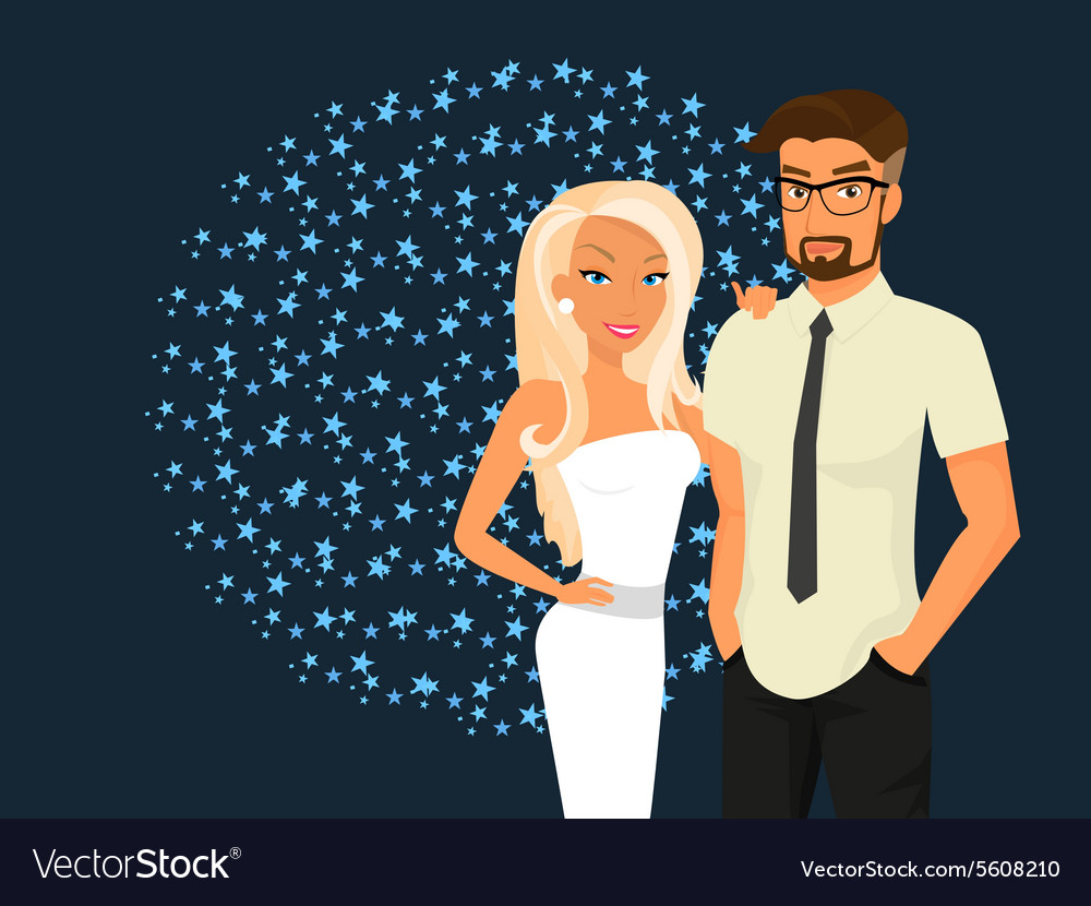 Stylish guy and his pretty girlfriend