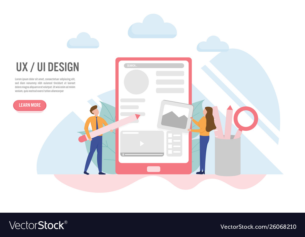 User experience and user interface concept with