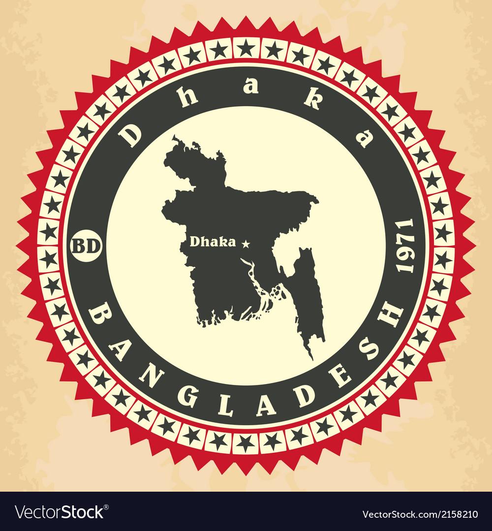 Vintage label-sticker cards of Bangladesh