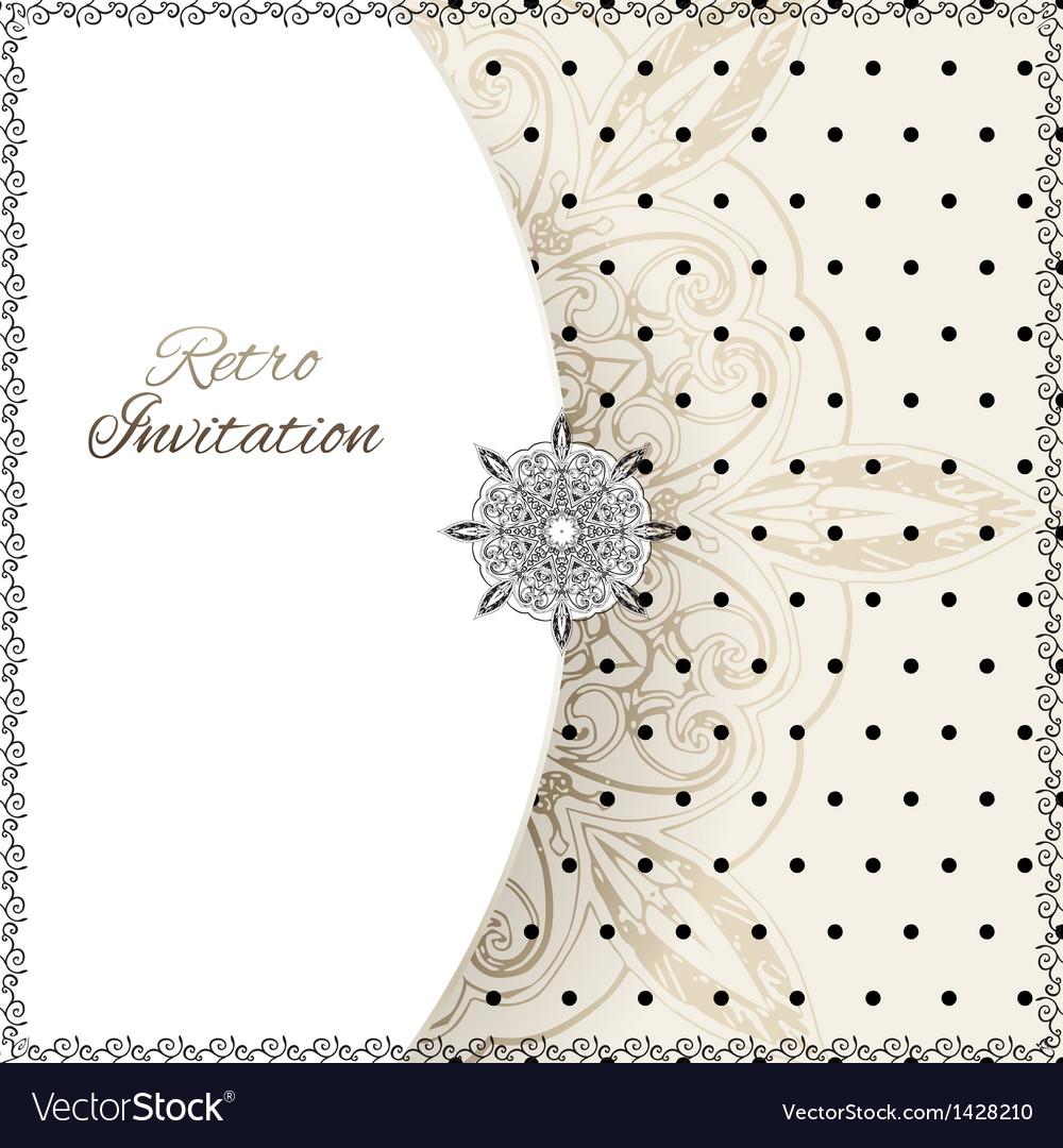 Vintage lace polka dots ornament card