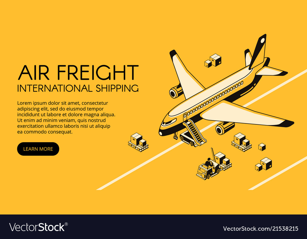 Air freight logistics isometric