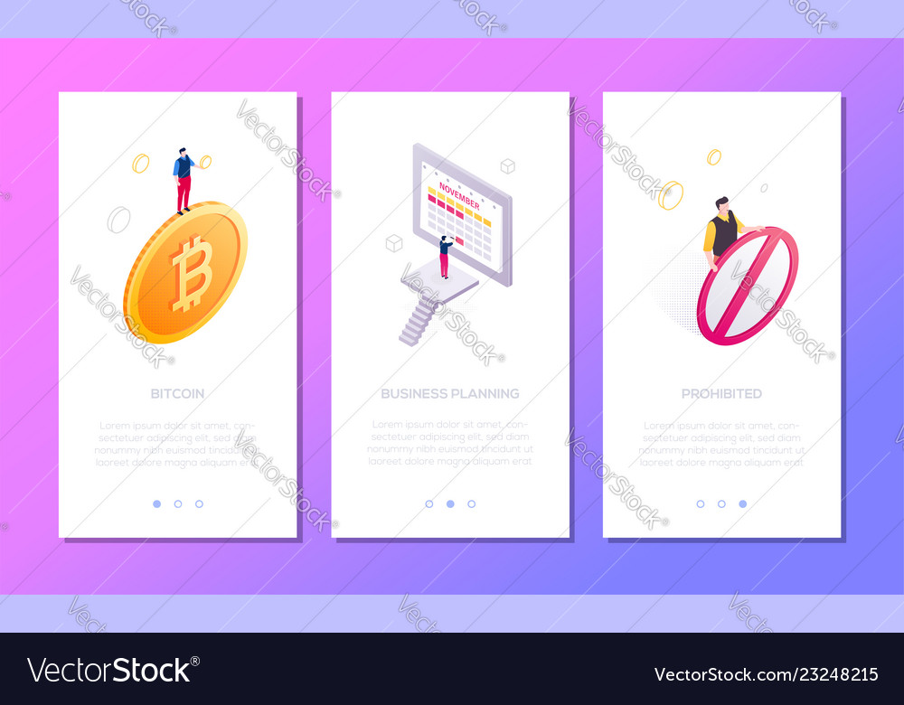 Business and finance - set of isometric