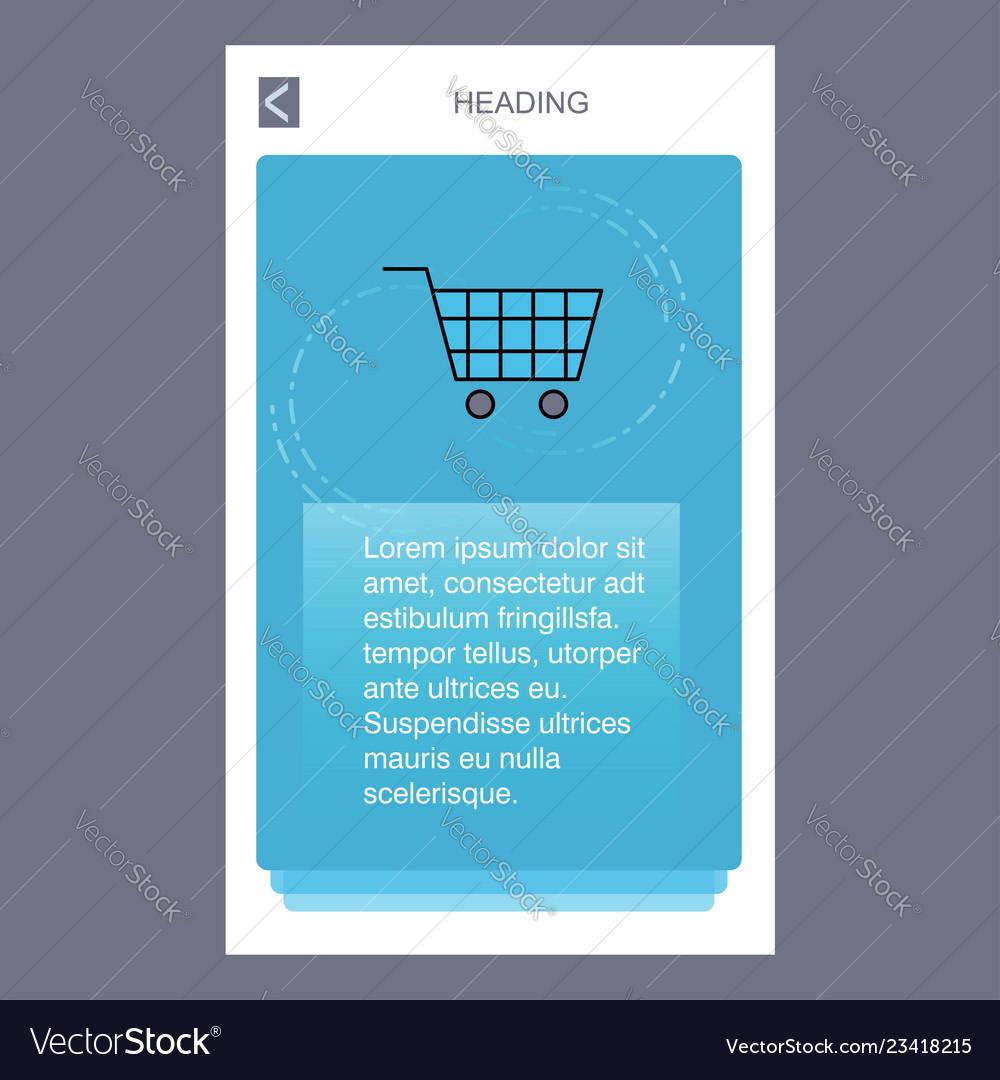 Cart mobile vertical banner design design