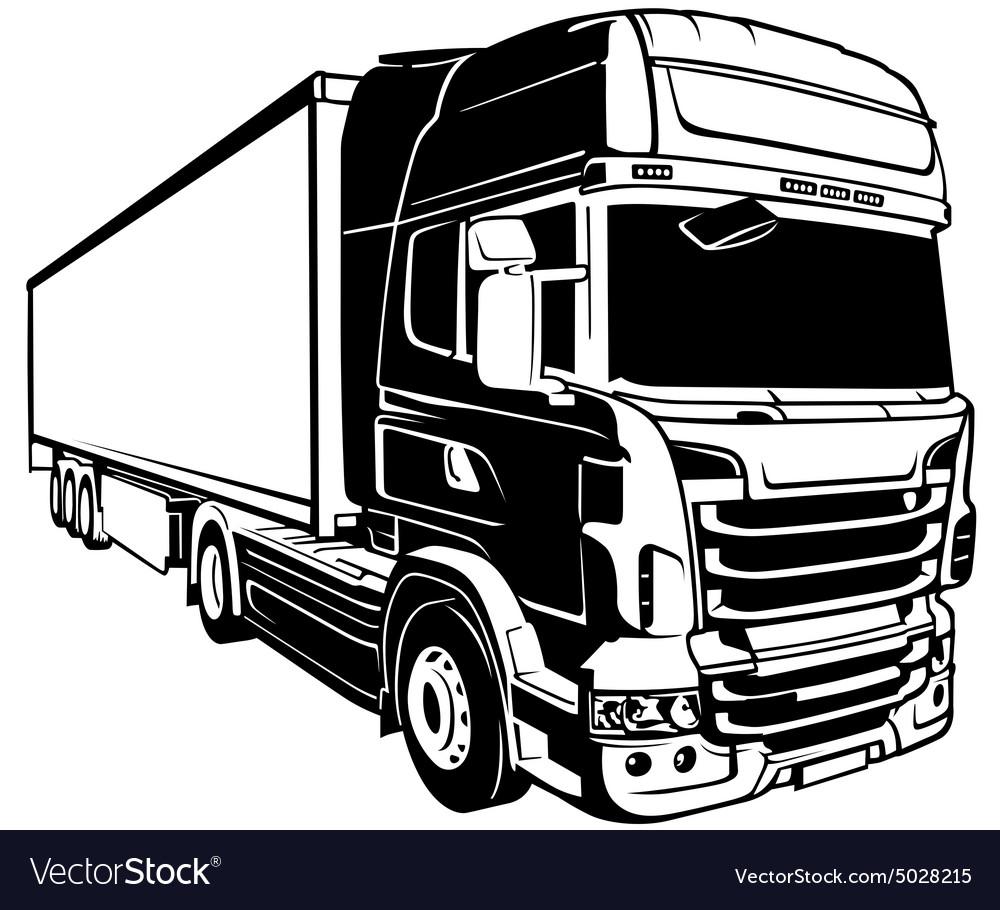 trailer truck royalty free vector image vectorstock rh vectorstock com truck vector blue print truck vector free eps