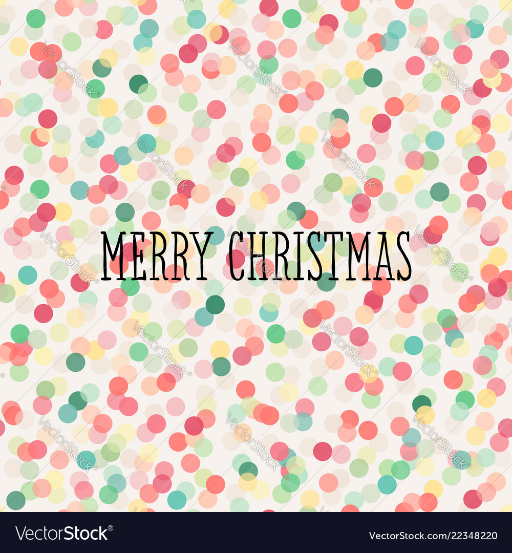 Christmas seamless pattern with pastel confetti