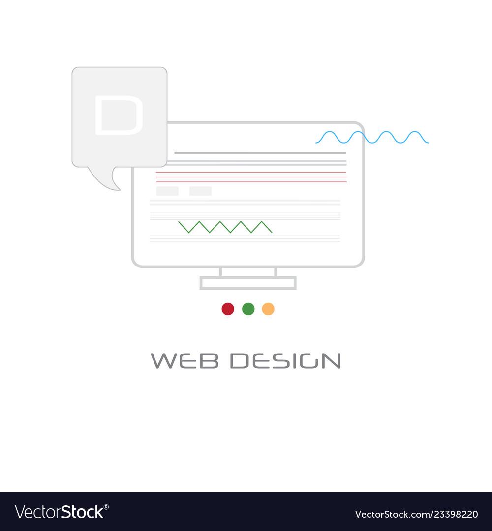 Computer screen web design development concept