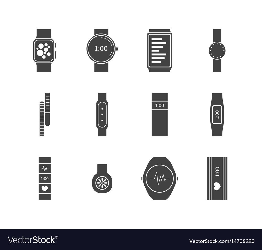 Fitness tracker set vector image