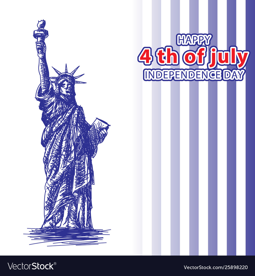 July 4 independence day statue liberty and
