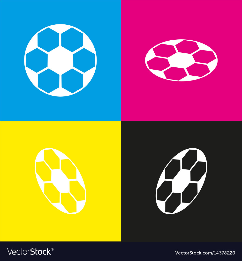 Soccer ball sign white icon with