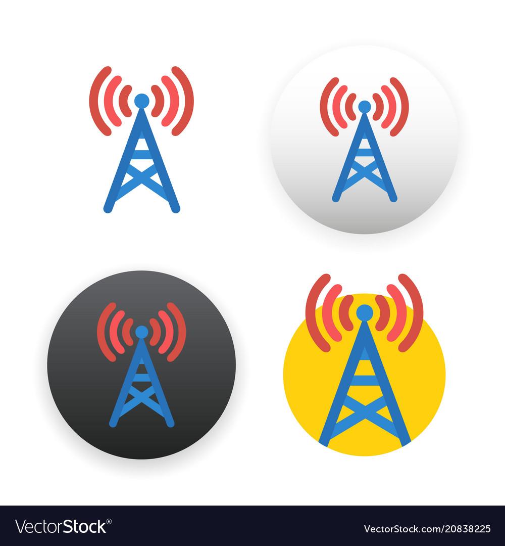 Antenna icon on white