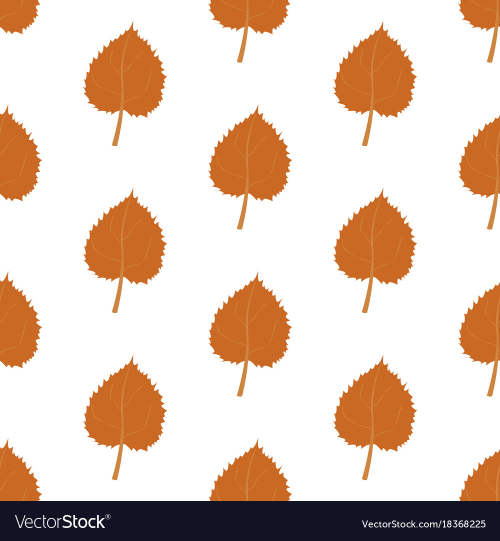 Autumn leaves harvest pattern vector image
