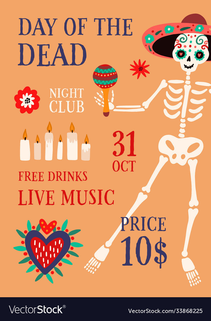 Day death theme party promo poster