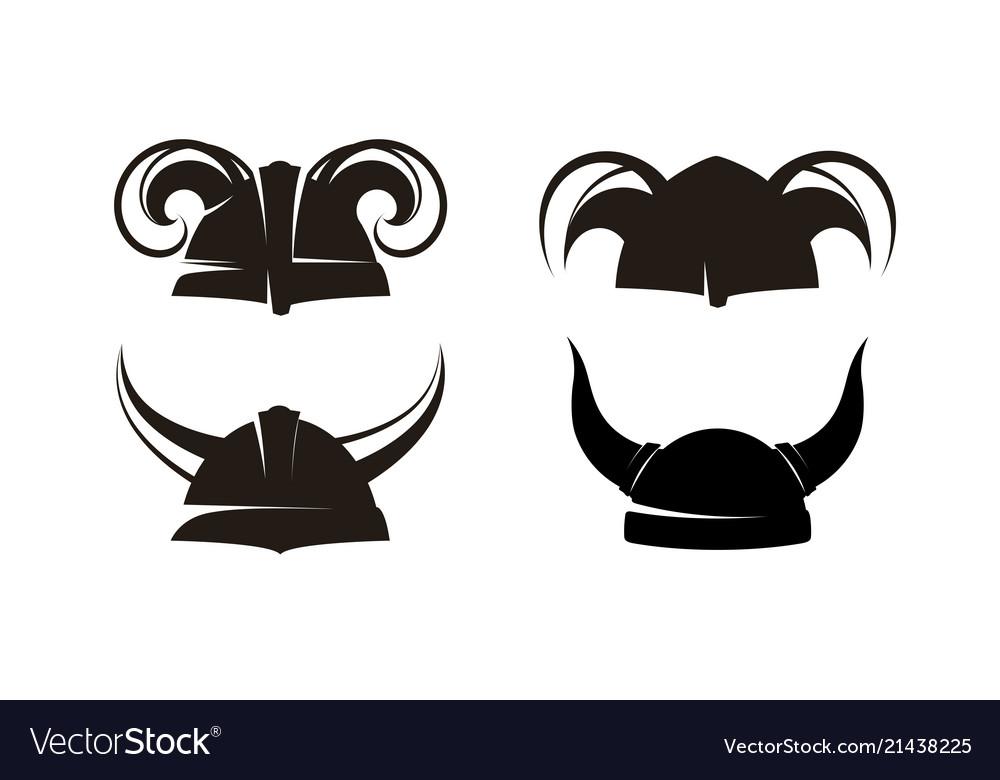 Horned helmets of the vikings set