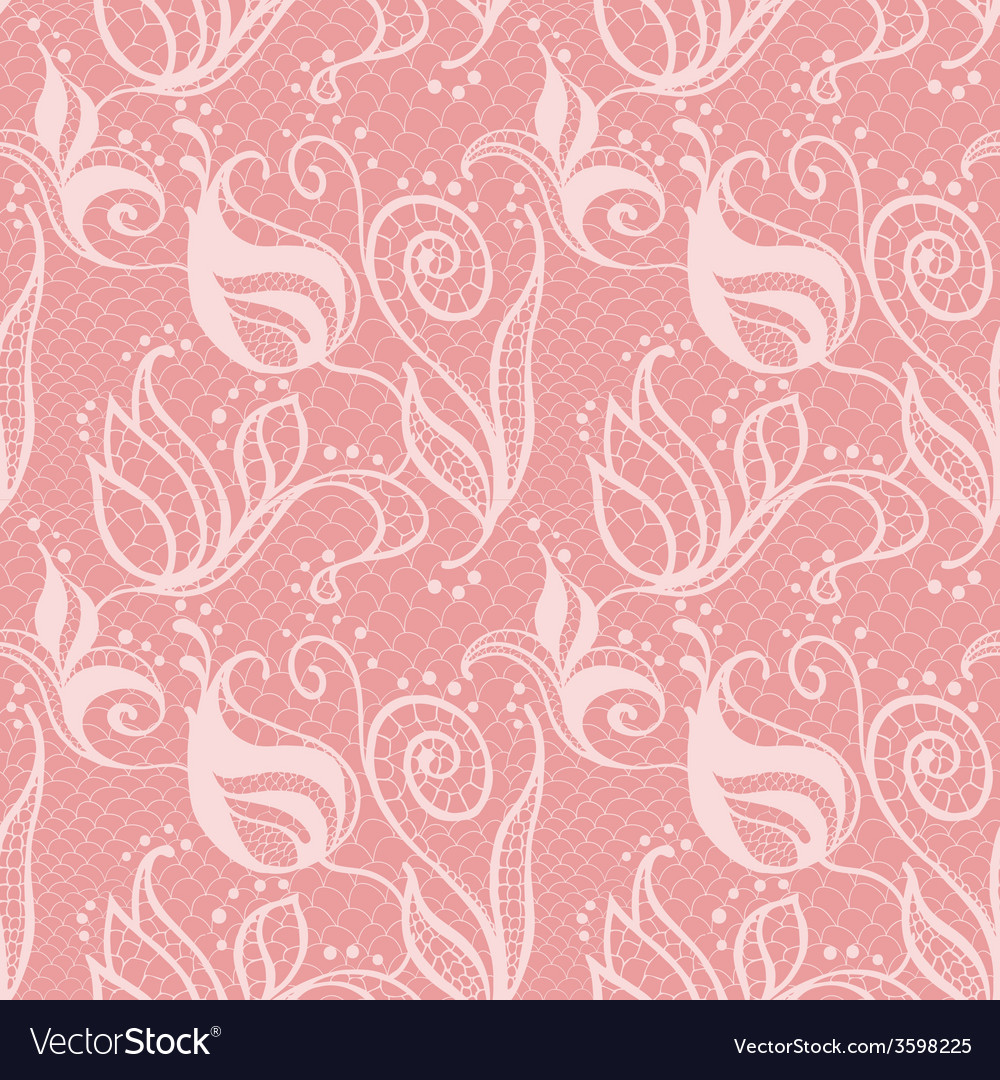 Lacy seamless pattern vector image