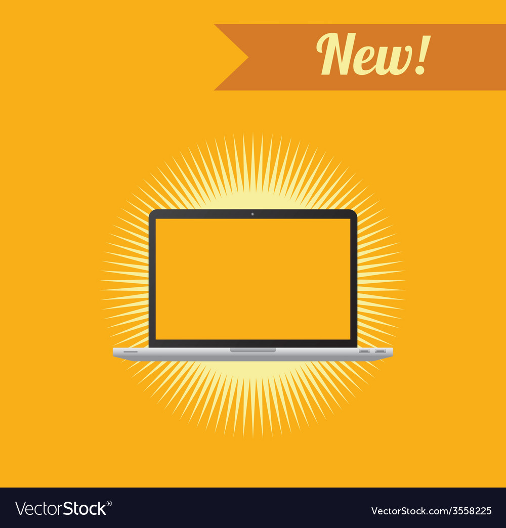 notebook laptop theme royalty free vector image