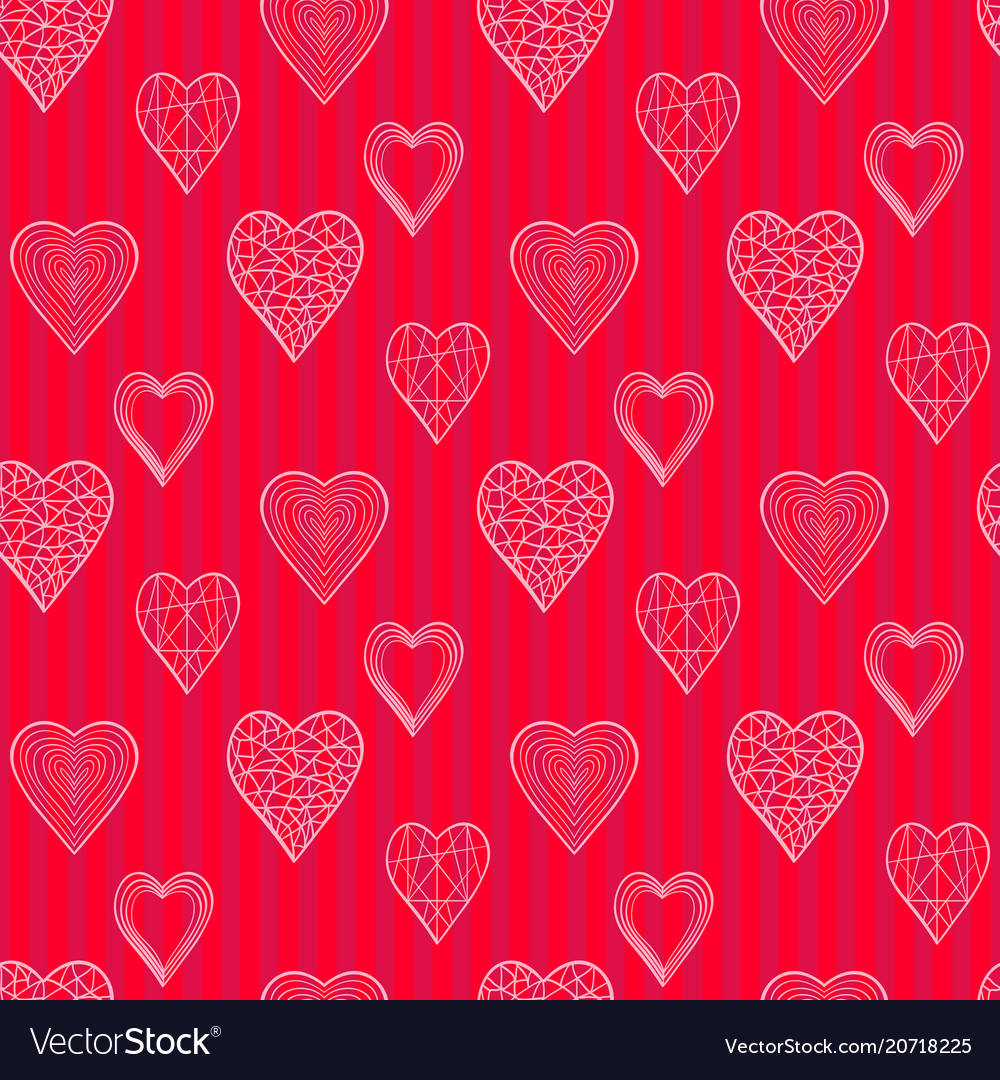 Pattern winth doodle hearts