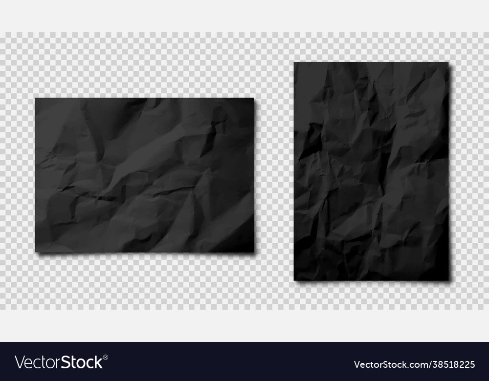 Realistic blank crumpled paper sheets in a4 size