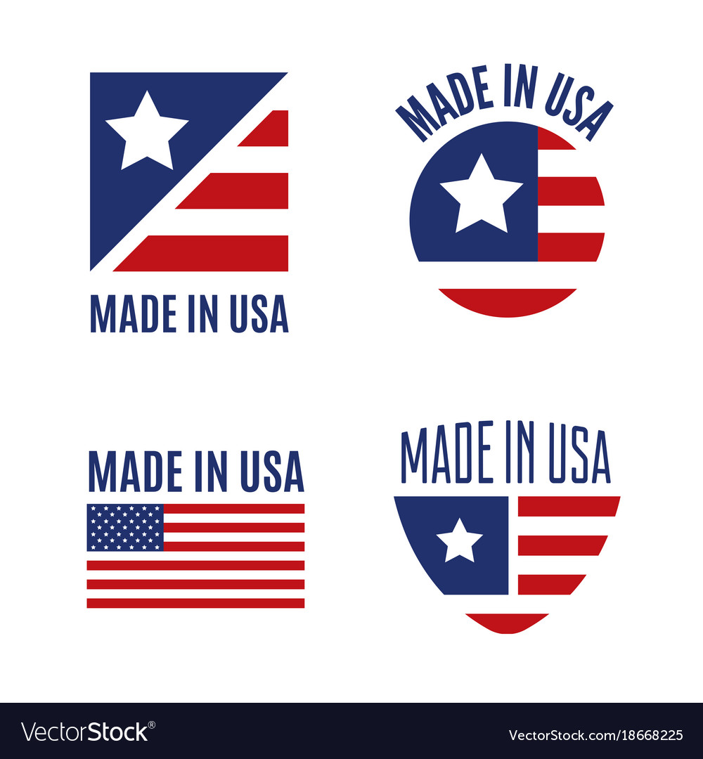 set of made in the usa logo labels and royalty free vector rh vectorstock com made in usa logo maker made in usa logo vector