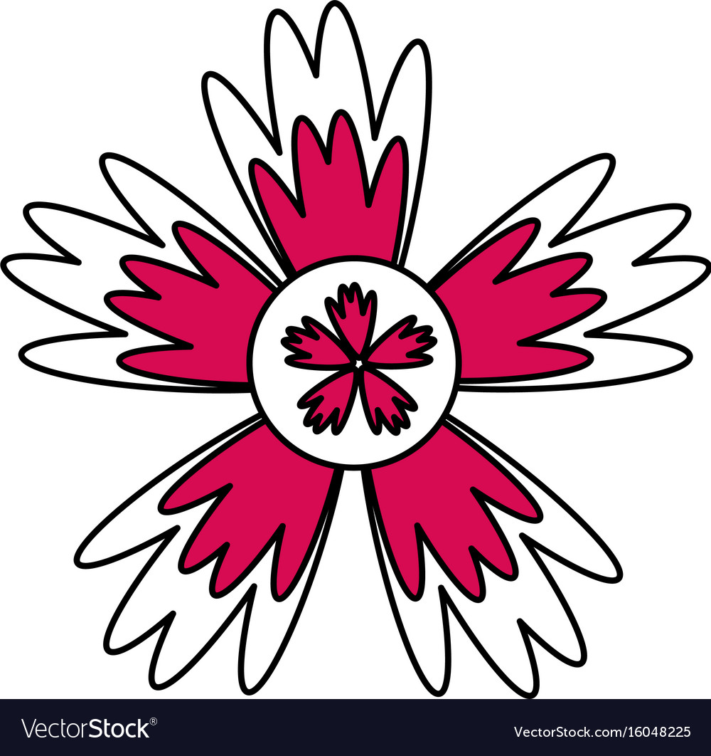 Single Pink Flower Icon Image Royalty Free Vector Image