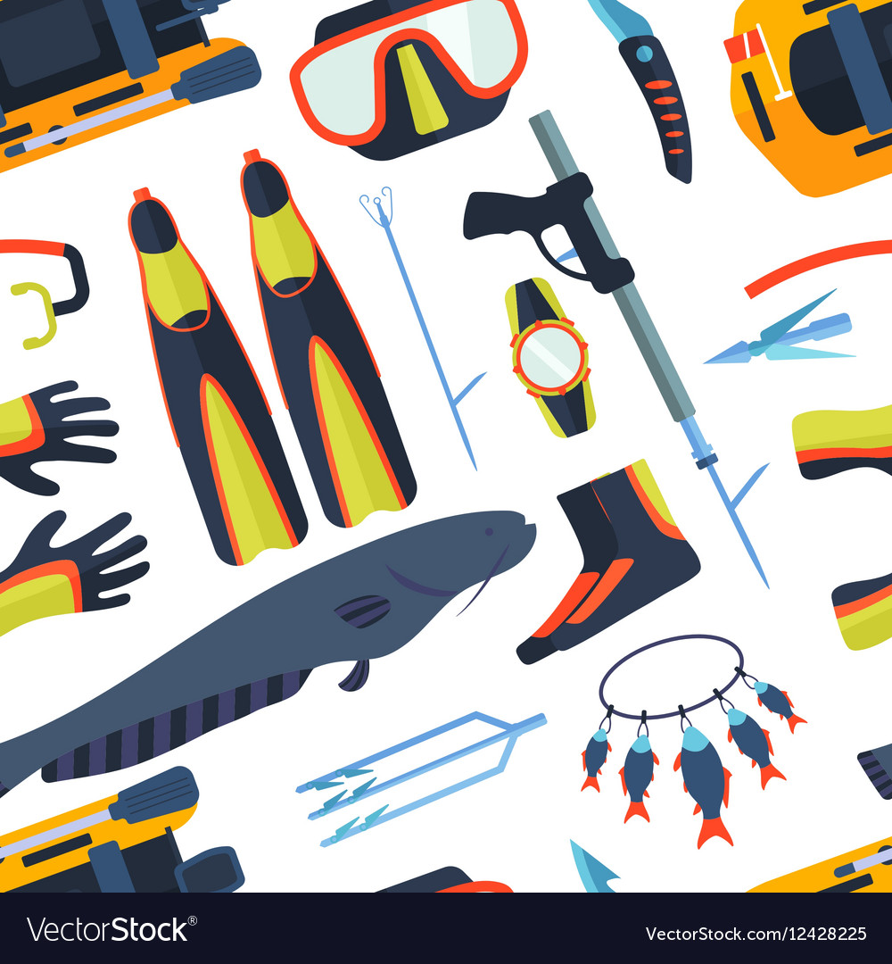 Spearfishing background vector image
