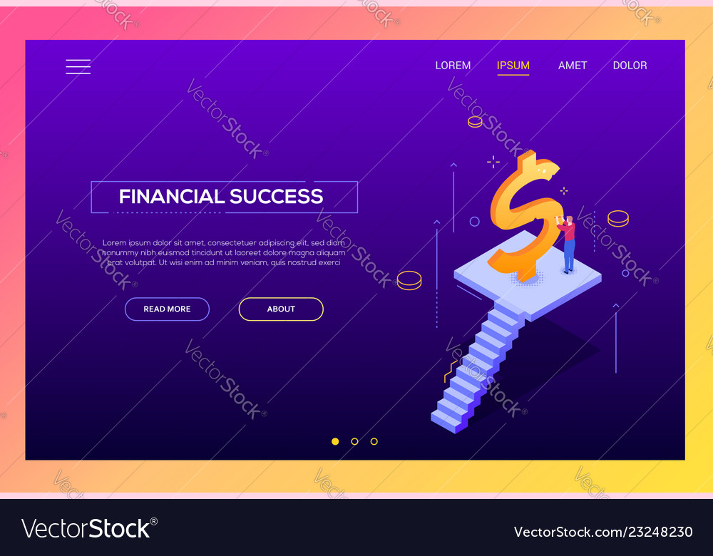 Financial success - modern isometric