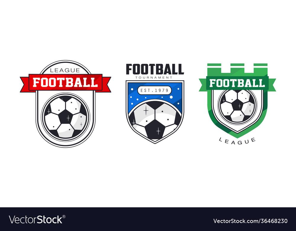 Football league logo templates set sports team