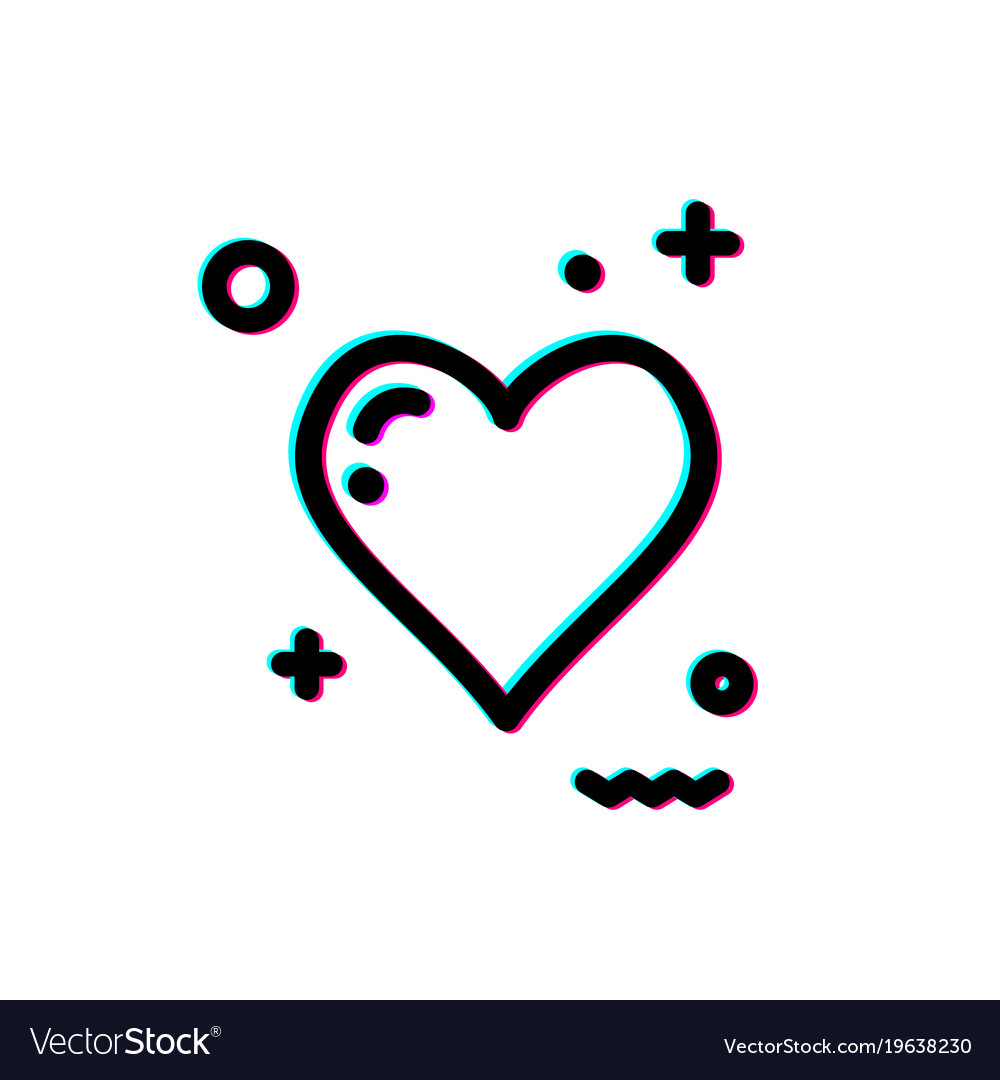 Glitch heart icon