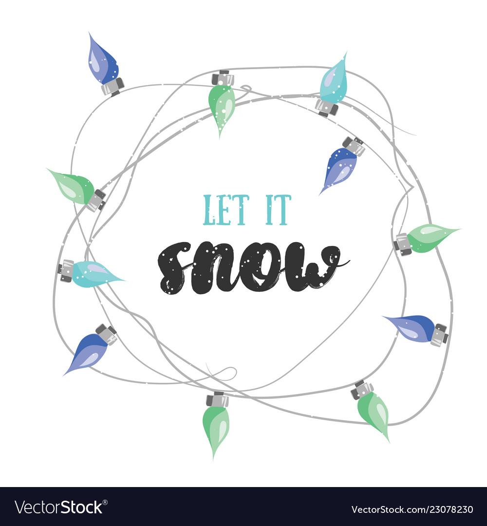 Let it snow christmas greetin card
