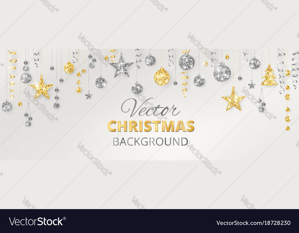 Sparkling christmas glitter ornaments golden