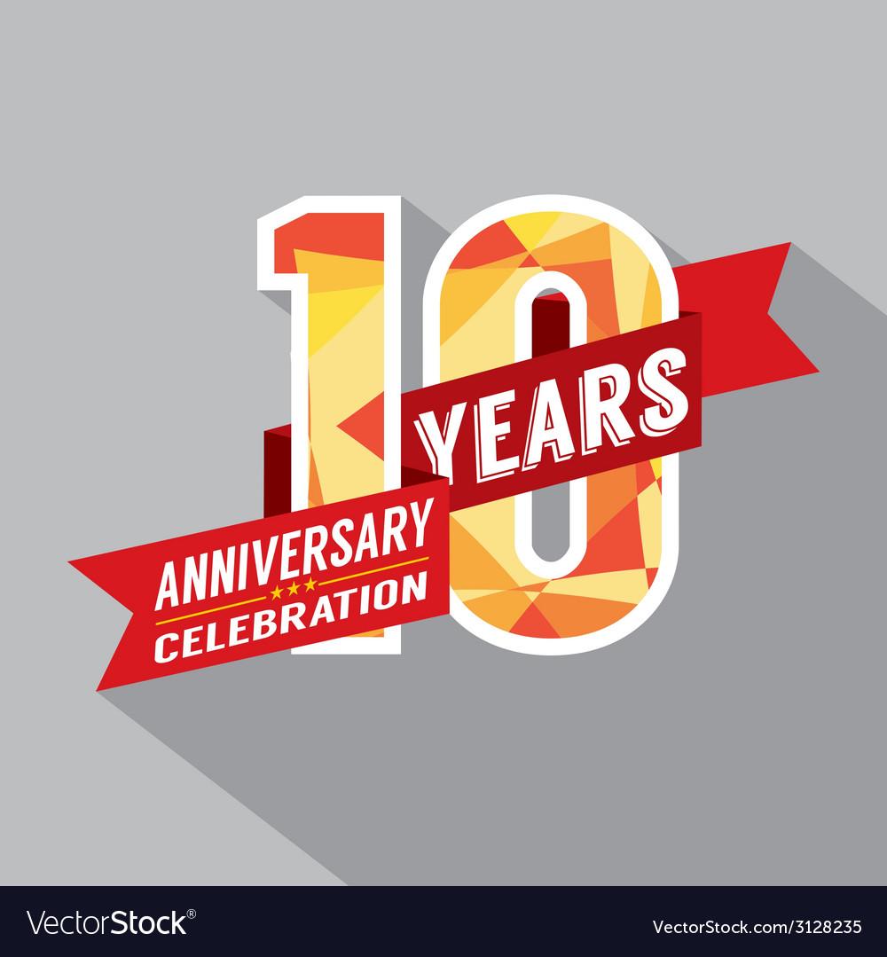 10th Years Anniversary Celebration Design