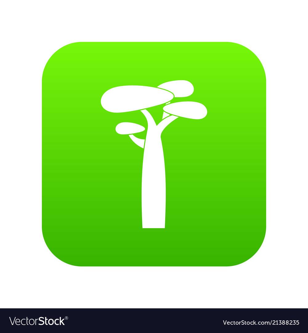 Baobab icon green
