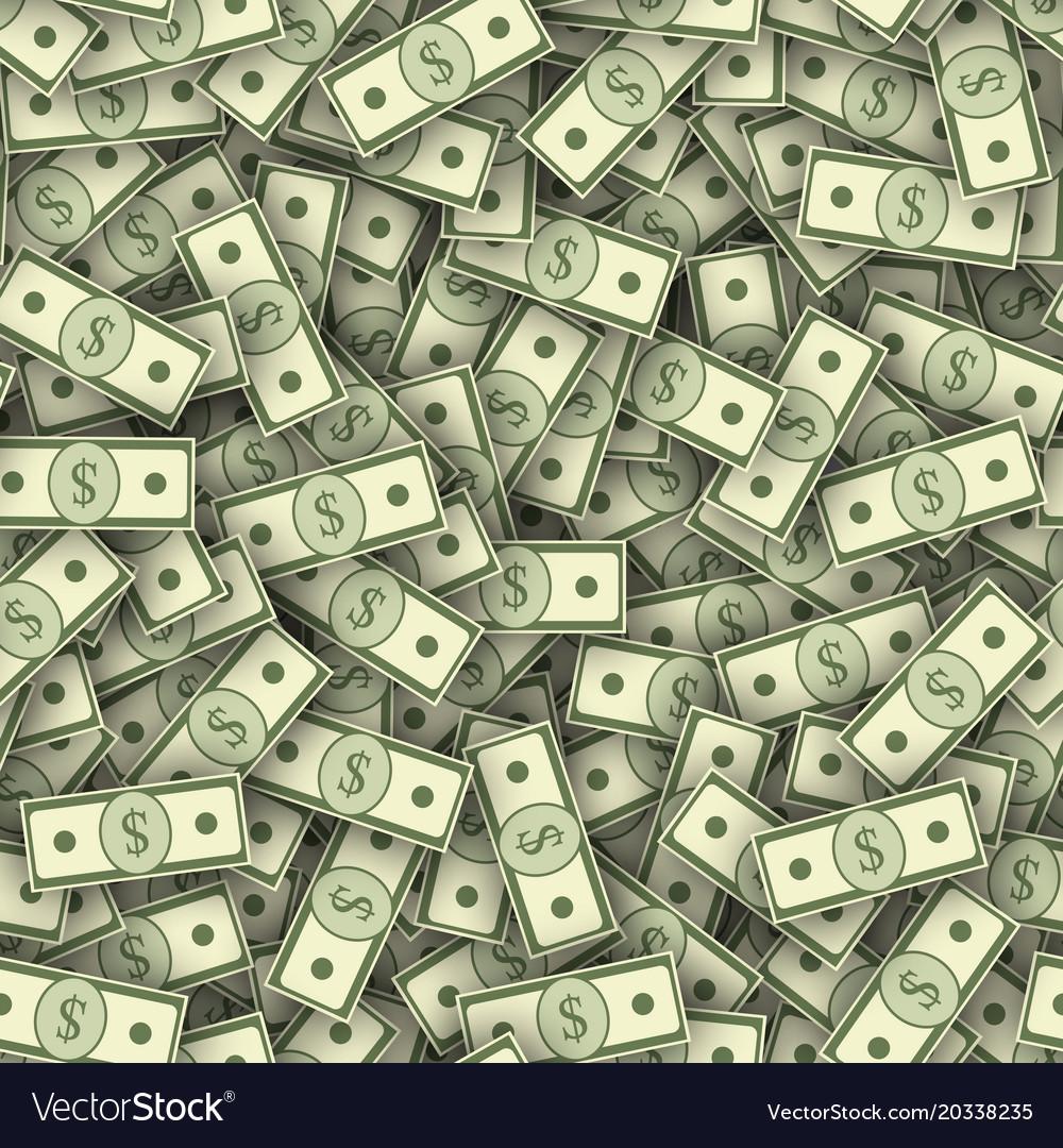 Dollar banknotes pile seamless texture