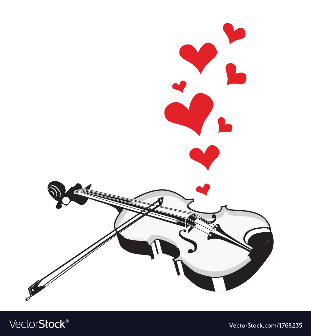 Heart Love Music Violin Playing A Song For Valenti