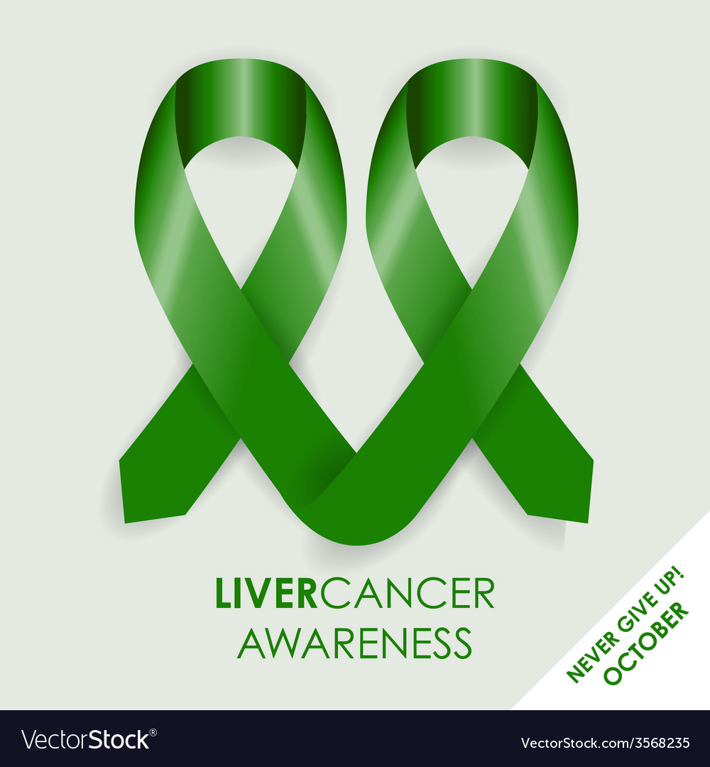 Liver Cancer Ribbon Royalty Free Vector Image Vectorstock