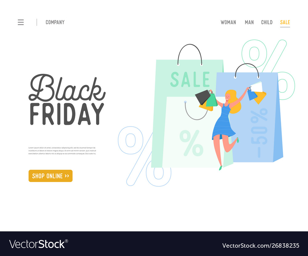 Shopping theme black friday online sale
