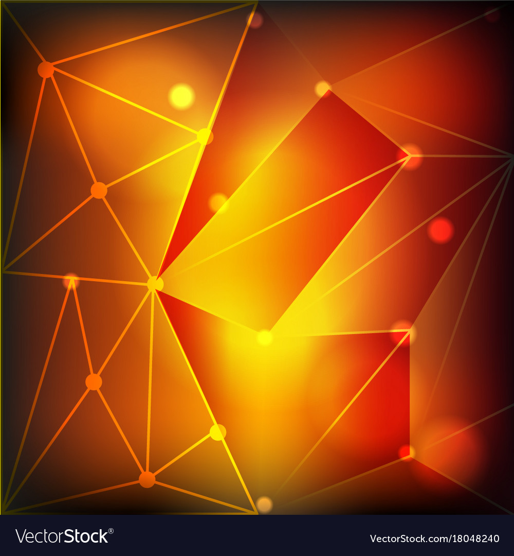 Background Template With Orange Shades Light Vector Image