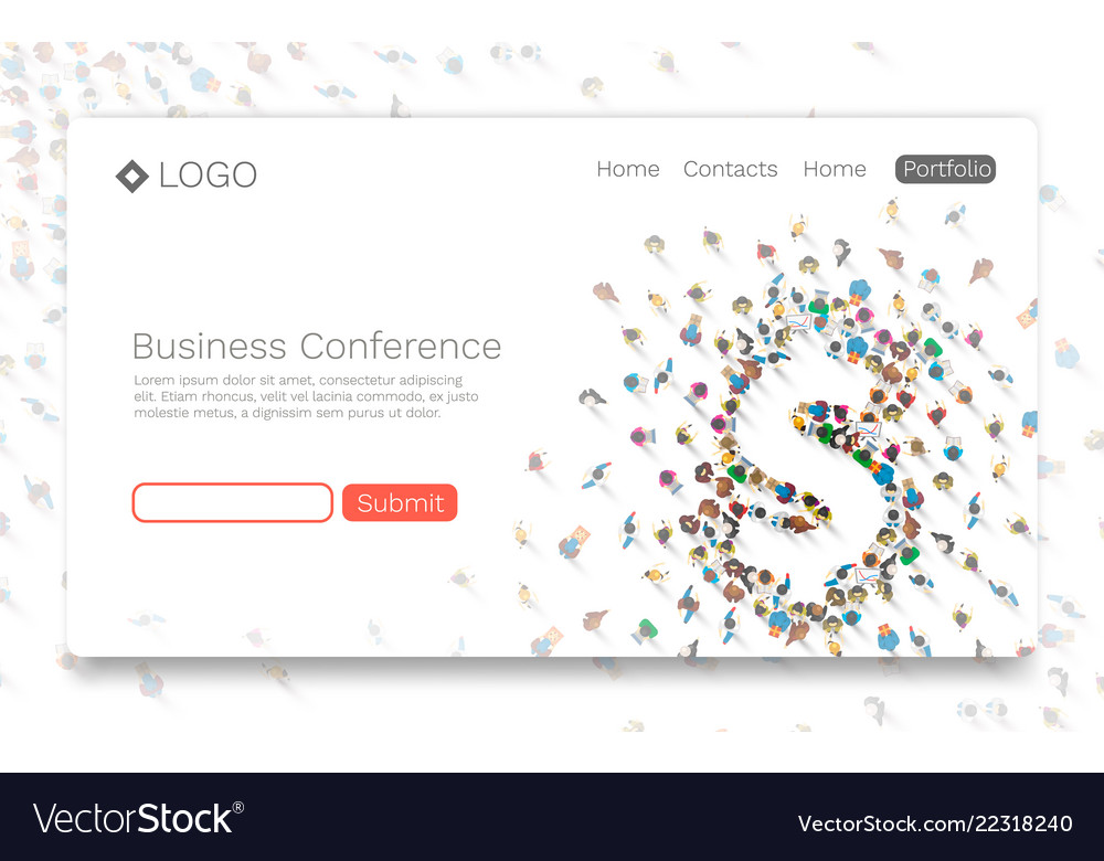 Business conference landing page concept