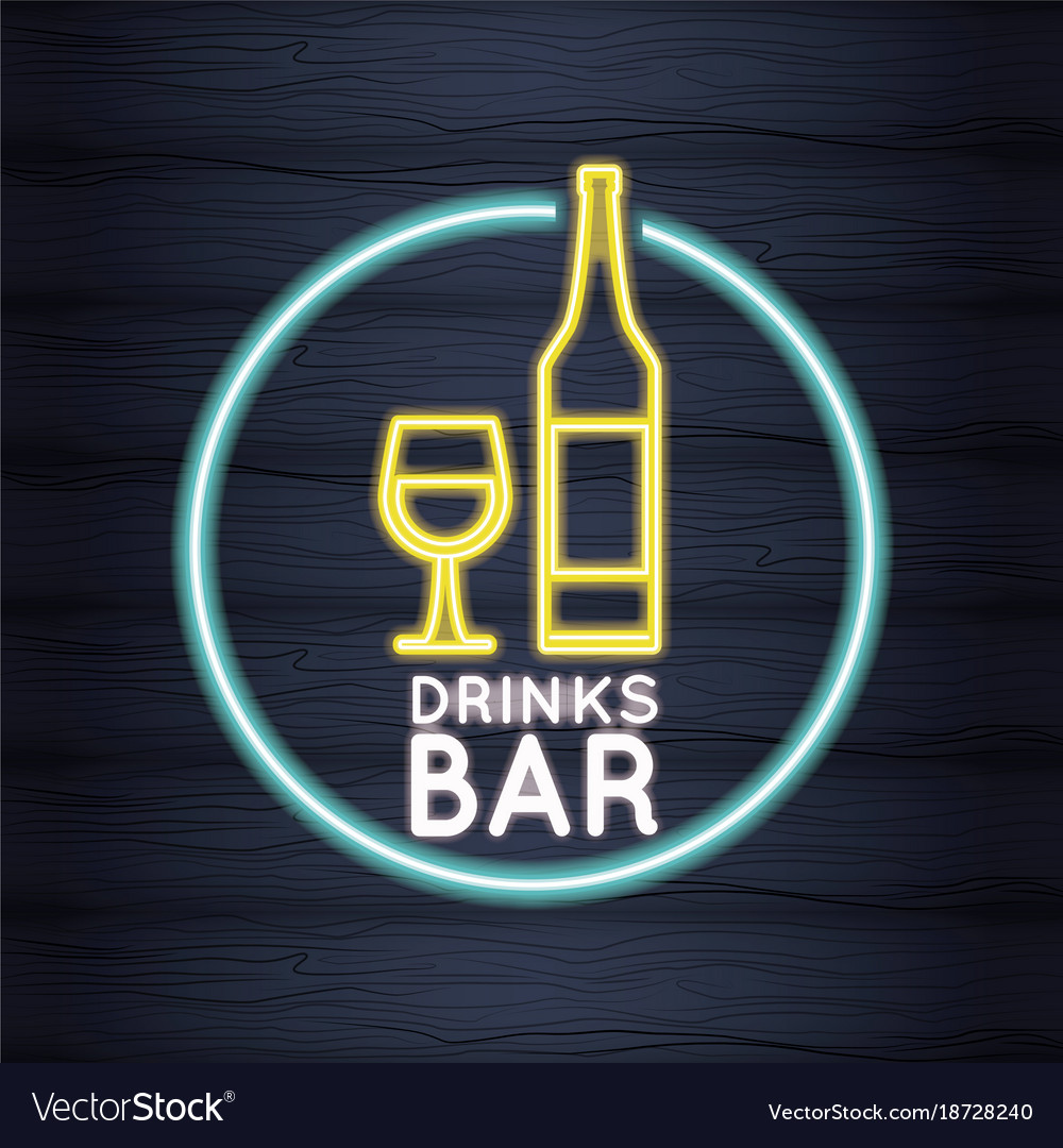 Drinks bar neon lights royalty free vector image drinks bar neon lights vector image aloadofball Images