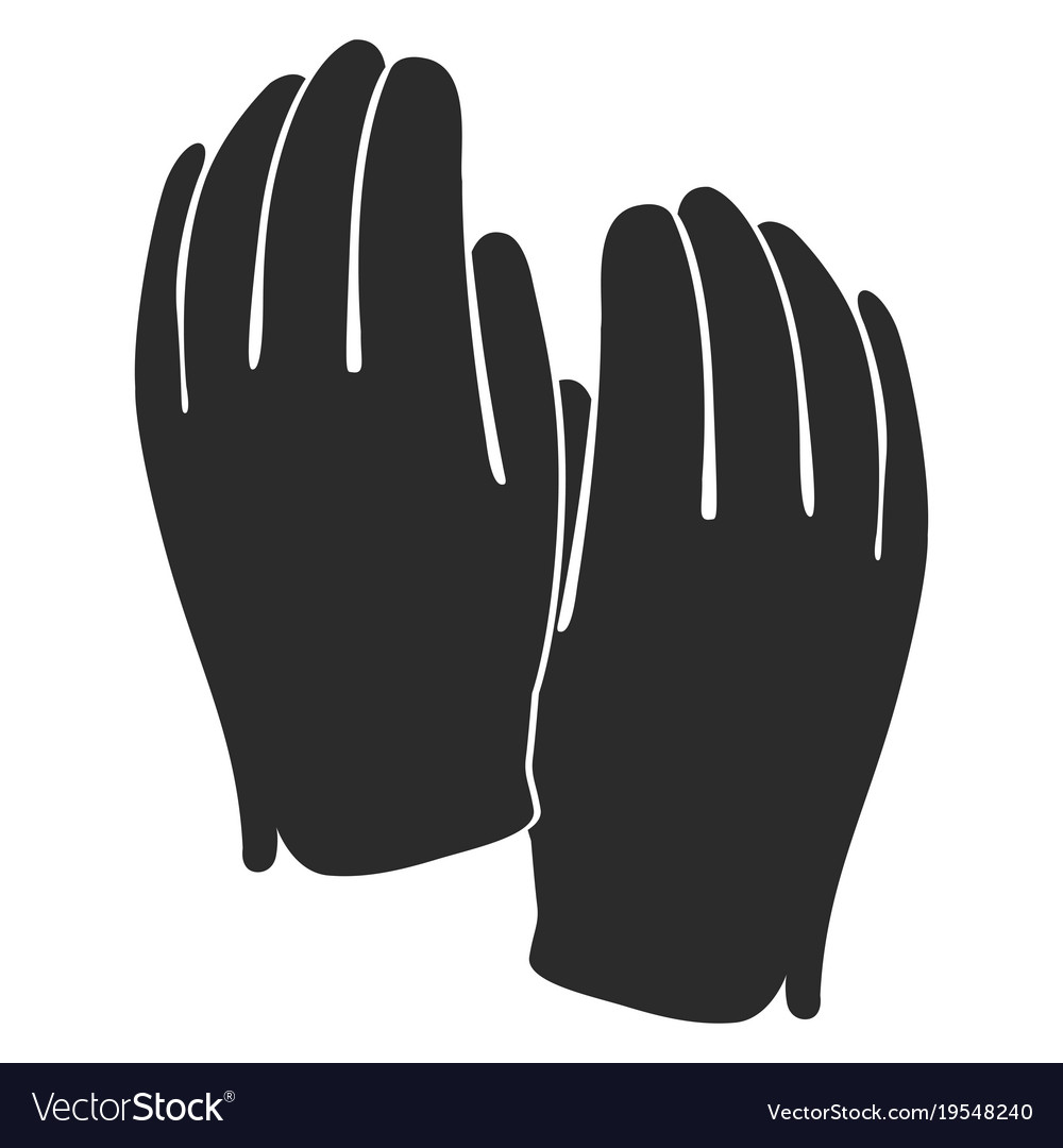 golf gloves silhouette royalty free vector image